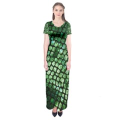 Dragon Scales Short Sleeve Maxi Dress by KirstenStar