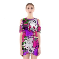 Ink Shapes                                                                         Women s Cutout Shoulder Dress by LalyLauraFLM