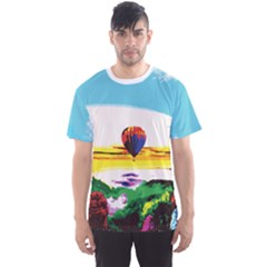 Morning Mountain Landspace Men s Sport Mesh Tee by gumacreative