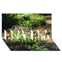 Shadowed Ground Cover Best Bro 3d Greeting Card (8x4)  by ArtsFolly