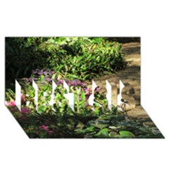 Shadowed Ground Cover Best Sis 3d Greeting Card (8x4)  by ArtsFolly