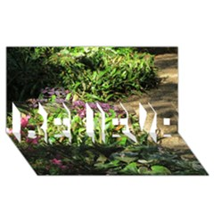 Shadowed Ground Cover Believe 3d Greeting Card (8x4)  by ArtsFolly