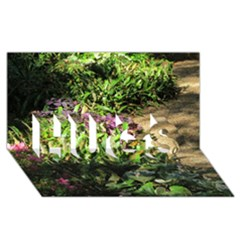Shadowed Ground Cover Hugs 3d Greeting Card (8x4)  by ArtsFolly