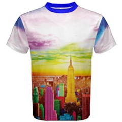 Nyc Full Color Men s Cotton Tee by gumacreative
