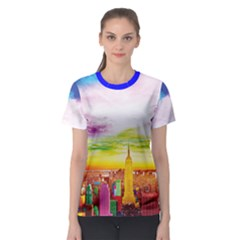 Nyc Full Color Women s Sport Mesh Tee by gumacreative