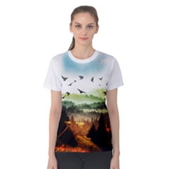 The Dreamland Women s Cotton Tee by gumacreative