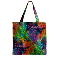 Reality Is Melting Zipper Grocery Tote Bag