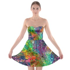 Reality Is Melting Strapless Dresses