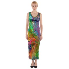 Reality Is Melting Fitted Maxi Dress