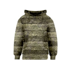 Grunge Stripes Print Kids  Pullover Hoodie by dflcprintsclothing