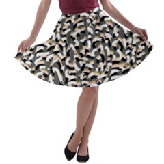 Charcoal Onfetti A Line Skater Skirt