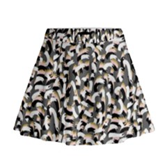Charcoal Confetti Mini Flare Skirt by LisaGuenDesign