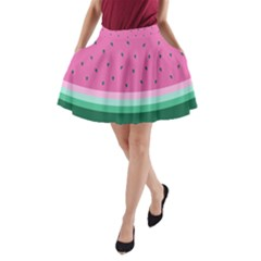 Watermelon A Line Pocket Skirt