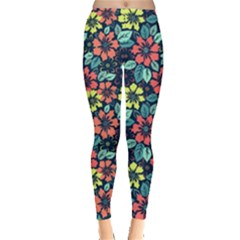 Tropical Flowers Leggings  by olgart