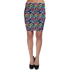 Tropical Flowers Bodycon Skirt by olgart