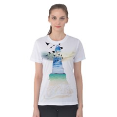 Beach Angel Women s Cotton Tee by gumacreative