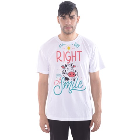 Start The Day Right With A Smile! Men s Sport Mesh Tee by Contest2492401