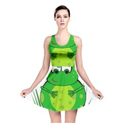 Green Frog Reversible Skater Dress by Valentinaart