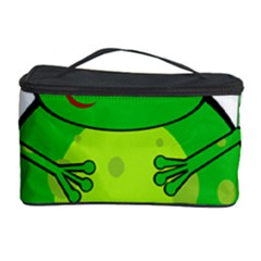 Green Frog Cosmetic Storage Case by Valentinaart