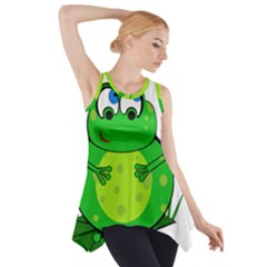 Green Frog Side Drop Tank Tunic by Valentinaart