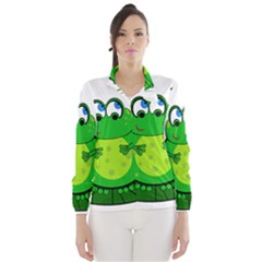 Green Frog Wind Breaker (women) by Valentinaart