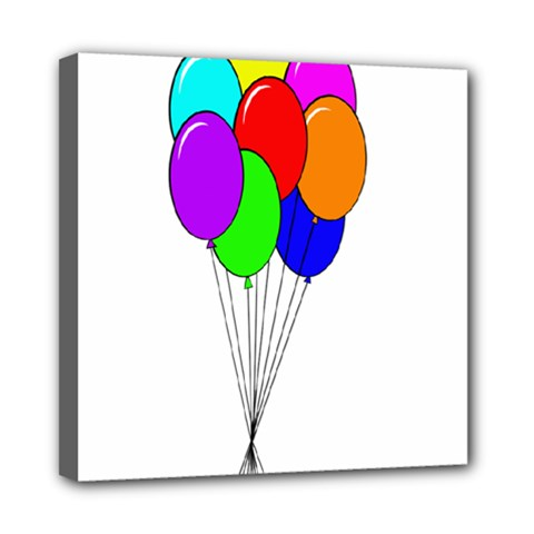 Colorful Balloons Mini Canvas 8  X 8  by Valentinaart