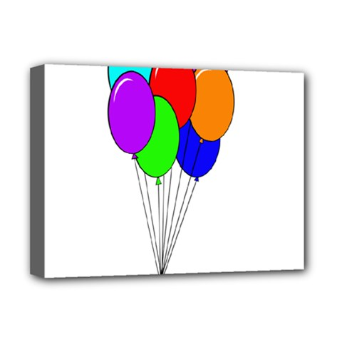 Colorful Balloons Deluxe Canvas 16  X 12   by Valentinaart
