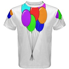Colorful Balloons Men s Cotton Tee by Valentinaart