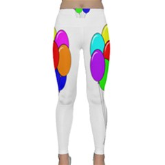 Colorful Balloons Yoga Leggings by Valentinaart
