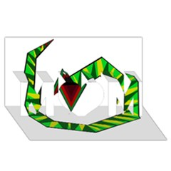 Decorative Snake Mom 3d Greeting Card (8x4)  by Valentinaart