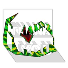 Decorative Snake Thank You 3d Greeting Card (7x5)  by Valentinaart