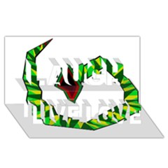 Decorative Snake Laugh Live Love 3d Greeting Card (8x4)