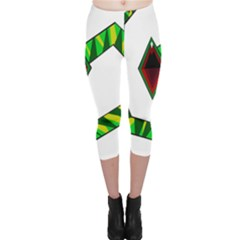Decorative Snake Capri Leggings  by Valentinaart
