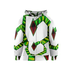 Decorative Snake Kids  Zipper Hoodie by Valentinaart