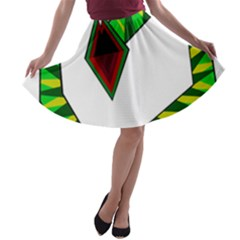 Decorative Snake A Line Skater Skirt by Valentinaart