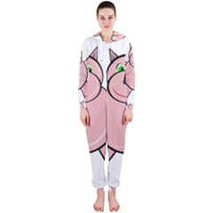 Pink Rhino Hooded Jumpsuit (ladies)  by Valentinaart