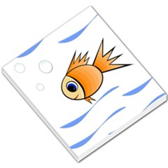 Cute Fish Small Memo Pads by Valentinaart