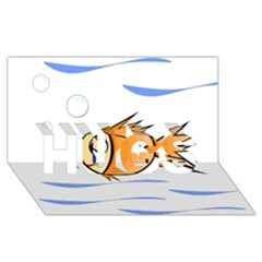 Cute Fish Hugs 3d Greeting Card (8x4)  by Valentinaart