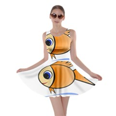 Cute Fish Skater Dress by Valentinaart
