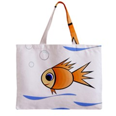 Cute Fish Mini Tote Bag by Valentinaart