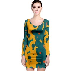 Bubbles                                                                              Long Sleeve Bodycon Dress