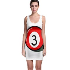 Billiard Ball Number 3 Sleeveless Bodycon Dress by Valentinaart