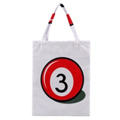 Billiard Ball Number 3 Classic Tote Bag by Valentinaart