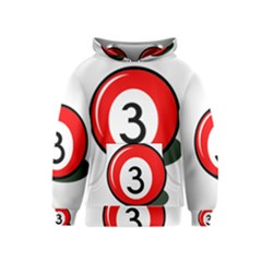 Billiard Ball Number 3 Kids  Pullover Hoodie by Valentinaart