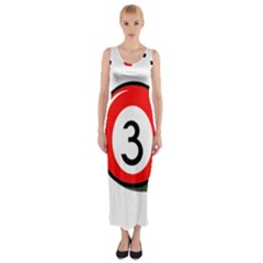 Billiard Ball Number 3 Fitted Maxi Dress by Valentinaart