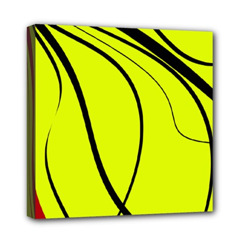 Yellow Decorative Design Mini Canvas 8  X 8  by Valentinaart