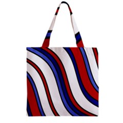 Decorative Lines Grocery Tote Bag by Valentinaart