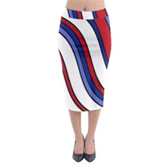 Decorative Lines Midi Pencil Skirt by Valentinaart