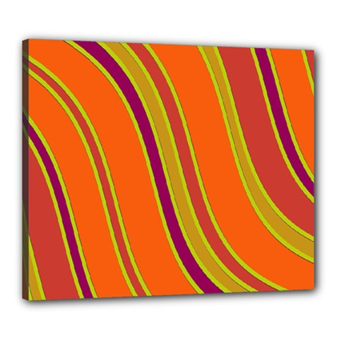 Orange Lines Canvas 24  X 20  by Valentinaart