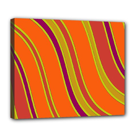 Orange Lines Deluxe Canvas 24  X 20   by Valentinaart